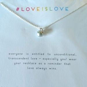 DOGEARED Love Is Love Silver Plated Necklace